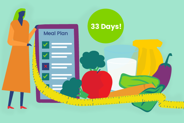 33 day meal plan